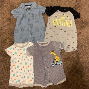 Carters jumpsuits. 0-3 months.